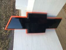 "CHEVY 7"" BLACK/ORANGE CHEVROLET Bow Tie Emblem STICK ON HHR Uplander"