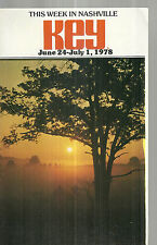 This Week in Nashville June 24 1978 Tennessee Travel Guide Key