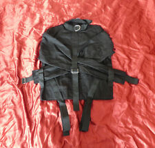 Small Black Escapology Straitjacket Medical Restraint Heavy Canvas Bondage New