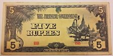 5 RUPEES JAPANESE GOVERNMENT (BILL 41) WWII JAPAN JAPON  Serie BB