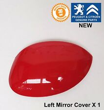 Peugeot 206 206+ Left Passenger Mirror Wing Cover Cap Red Aden Genuine New