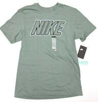 Nike Sportswear Tee Shirt Mens Green Running Training 100% Cotton BV0625-365 NWT