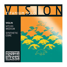 Thomastik Vision Titanium Solo Violin Strings VIT100 Full Set 4/4 Free Shipping