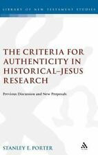 The Library of New Testament Studies: The Criteria for Authenticity in...