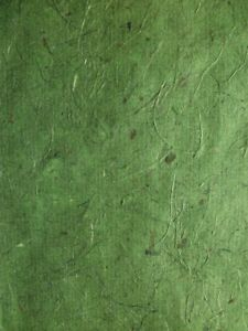 4 x A4 Sheets of Green Banana Paper Great for Cardmaking Scrapbooking