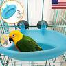 Pet Birds Cage Plastic Bath Basin With Mirror Small Bird Parrot Bathtub Toys US