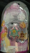 NIP Disney Princess LCD watch with Interchangeable Tops- ROUND