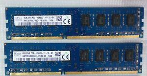 8GB 2x4GB 2Rx8 PC3 - 12800U - SK Hynix 1409 - Desktop
