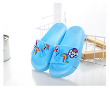 Rainbow Dash My Little Pony Slippers for Bath Non-slip Girls' Love for Age 7-9