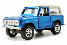 Jada 1:32 Display Just Trucks 1973 Ford Bronco Diecast Car 97051 Blue
