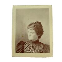 Antique Cabinet Card Photograph Beautiful Young Victorian Woman 1800s Photo