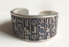 Bague ancienne en ARGENT  Égypte hiéroglyphe égyptien silver ring