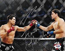 Nick Diaz & Frank Shamrock Signed UFC 8x10 Photo PSA/DNA COA StrikeForce Picture