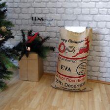 PERSONALISED TRADITIONAL STOCKING CHRISTMAS SANTA SACK XL EXTRA LARGE HESSIAN