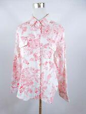 C&A Womens Vtg 90s Retro Design Casual Floral Print Cotton Shirt sz L UK 14 BD39