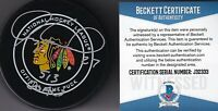 BECKETT-BAS JEREMY ROENICK 513 GOALS AUTOGRAPHED-SIGNED BLACKHAWKS GAME PUCK 33