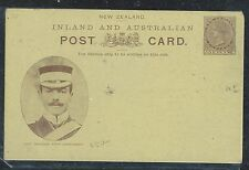 NEW ZEALAND (P1506B) QV PICTORIAL YELLOW CARD BLACK, WATERING HORSES UNUSED