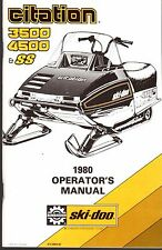 1980 Ski-Doo Snowmobile 3500,4500 & Ss Operators Manual P/N 414 3954 00 (481)
