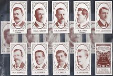 KEECH-FULL SET- AUSTRALIAN CRICKET TEAM 1905 (15 CARDS) - EXC+++