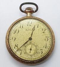 Open Face Pocket Watch Vintage Antique Waltham Gold Filled