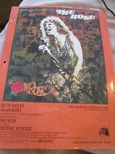 THE  ROSE WORDS AND MUSIC by AMANDA McBROOM RECORDED BY BETTE MIDLER SHEET MUSIC