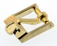 Omega Dornschliesse Buckle Swiss Plaqueg Stahl vergoldet 8mm O20