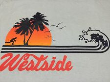 Westside T-Shirt Skateboard Sunset Beach Surf Wave Boardwalk Palm Tree Skater