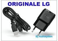 CARICA BATTERIA ORIGINALE PER LG K10 4G K420N G5 H850 +CAVO USB MICRO CARICATORE