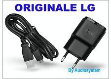 CARICA BATTERIA ORIGINALE PER LG G3 D855 G3S D725 D722+CAVO USB MICRO CARICATORE