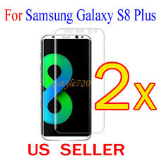 2x Full Cover Curved Clear Screen Protector Guard Film Samsung Galaxy S8 Plus