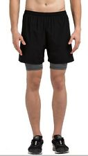 Mens Vansydical Sports Shorts with Lining 2XL Black CS076 ii 07