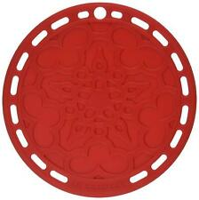 """Le Creuset 8"""" French Silicone Trivet Cherry Red Surface Protector Pot Holder"""