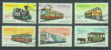 Philippine Stamps 1984 Railway Transportation, complete set, cancelled
