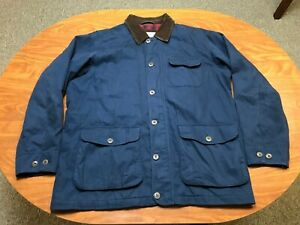 MENS USED LIGHTLY WORN ORVIS NAVY BLUE FULL ZIP OUTDOOR FIELD JACKET SIZE LARGE