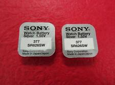2 pcs Japan High Quality Sony 377 Sr626Sw 0% Mercury Battery Silver 1.55V