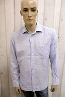 HUGO BOSS Uomo Camicia Camisa Shirt Casual Cotone Manica Lunga Taglia XL