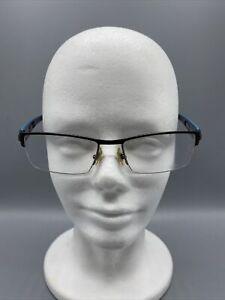 Morel OGA 74070 55-16-140 Black Blue NN022 Eyeglasses Frame MADE INFRANCE