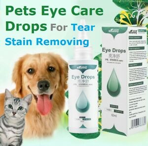 Pets Eye Care Drops For Dog Cat Eyes Tear Stain Removing Dirt Bactericidal 60ml