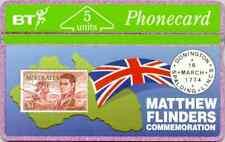 BTG009 Mathew Flinders Commemoration :  MINT PHONECARD Cat £30