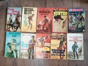 10  JOB LOT Vintage Cowboy Western Books