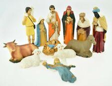 More details for great set of vintage 1960s christmas nativity plastic figures