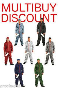 Overalls Coveralls Hood Painters Decorator Suit Protective Boilersuit