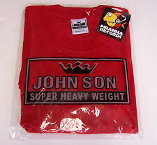 John Son Premium Quality Red T-Shirt 5XL TALL 100% Cotton Piranha Records