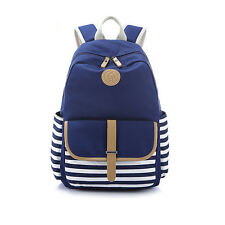 "Canvas Backpack School Bag Teenage Girls Boys Bags for 14"" 15"" Laptop iPad more"