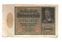 1922 Germany Weimar Republic 10.000  Mark Banknote LARGEST EVER PRINTED IN G