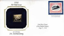 US 1918 Airmail INVERTED JENNY with Official GOLD stamp on FDC