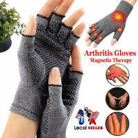 Copper Compression Gloves Carpal Tunnel Hand Finger Arthritis Joint Pain Relief