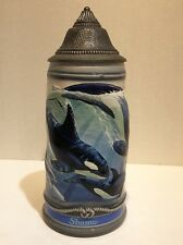 sea world San Diego shamu Limited Edition orka whale beer stein