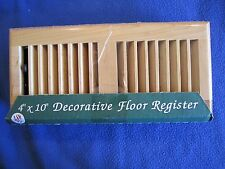 "Registers Unique Decorative 4"" x 10"" Wood Vent Floor Register USA"
