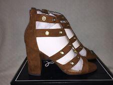Ladies Size 8 Qupid Chester 19 Gladiator Sandals ~ Dark Rust Suede ~ New in Box